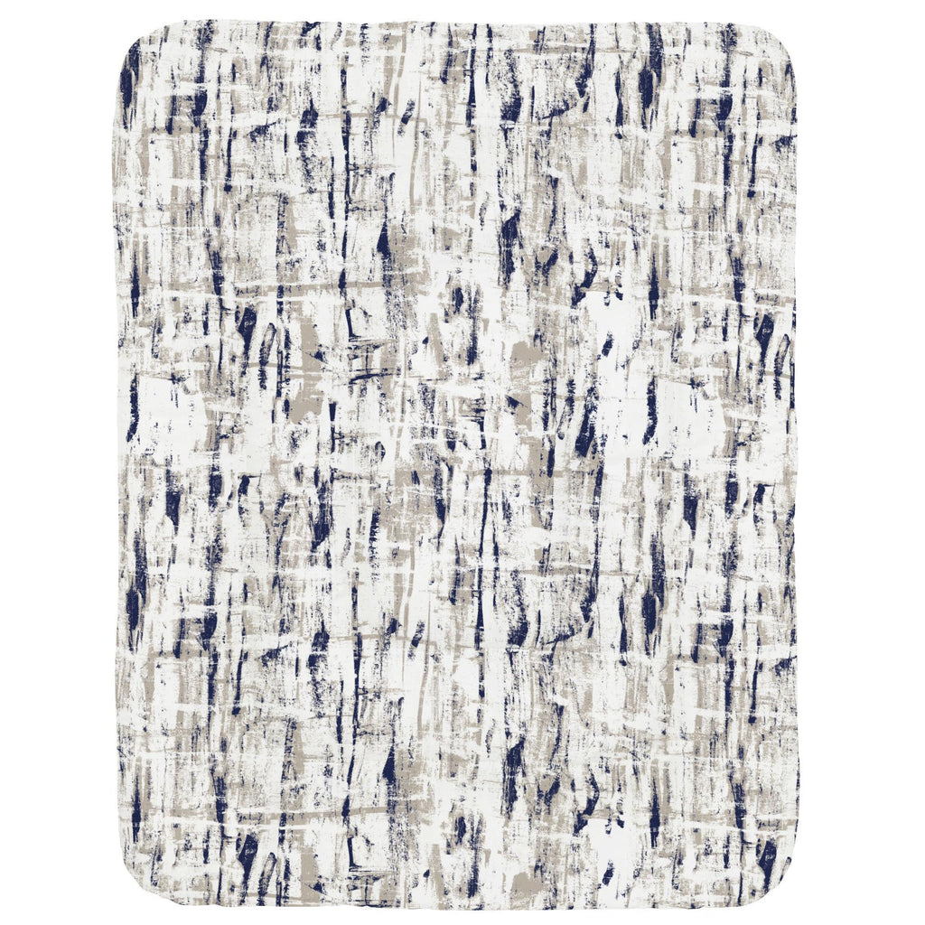 Product image for Navy and Taupe Birch Crib Comforter