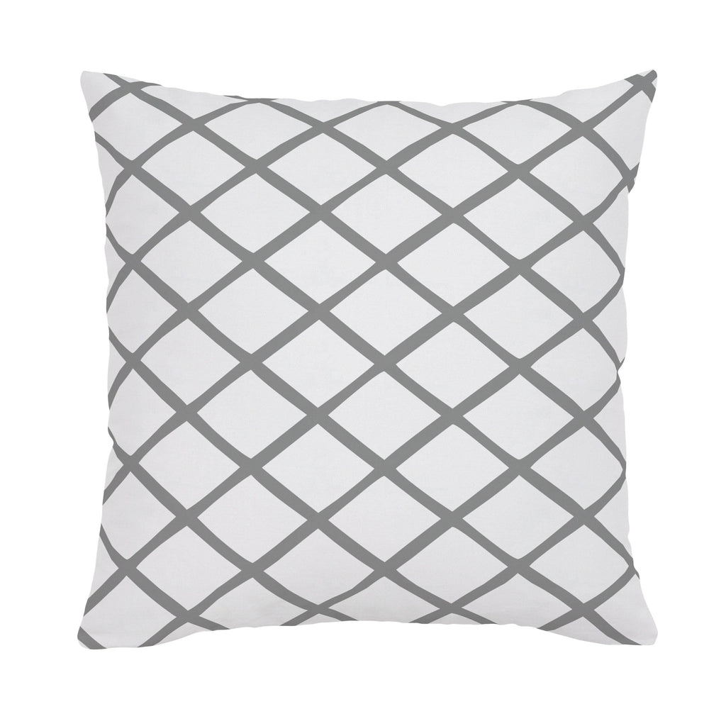 Product image for Cloud Gray Trellis Throw Pillow