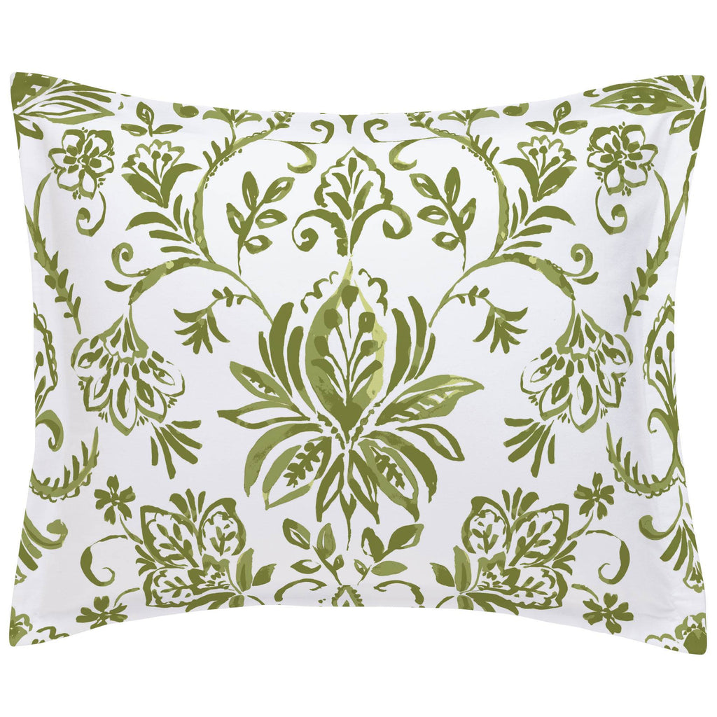 Product image for Sage Coastal Damask Pillow Sham