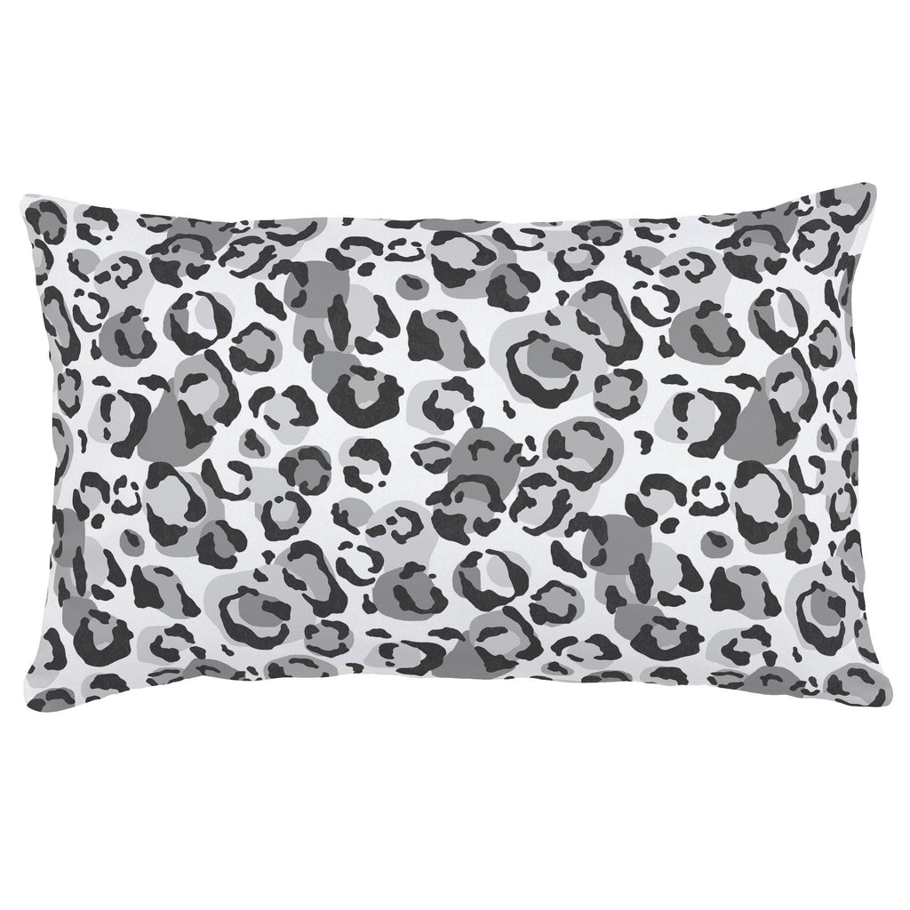 Product image for Gray Leopard Lumbar Pillow