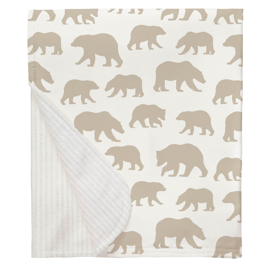 Product image for Taupe Bears Baby Blanket