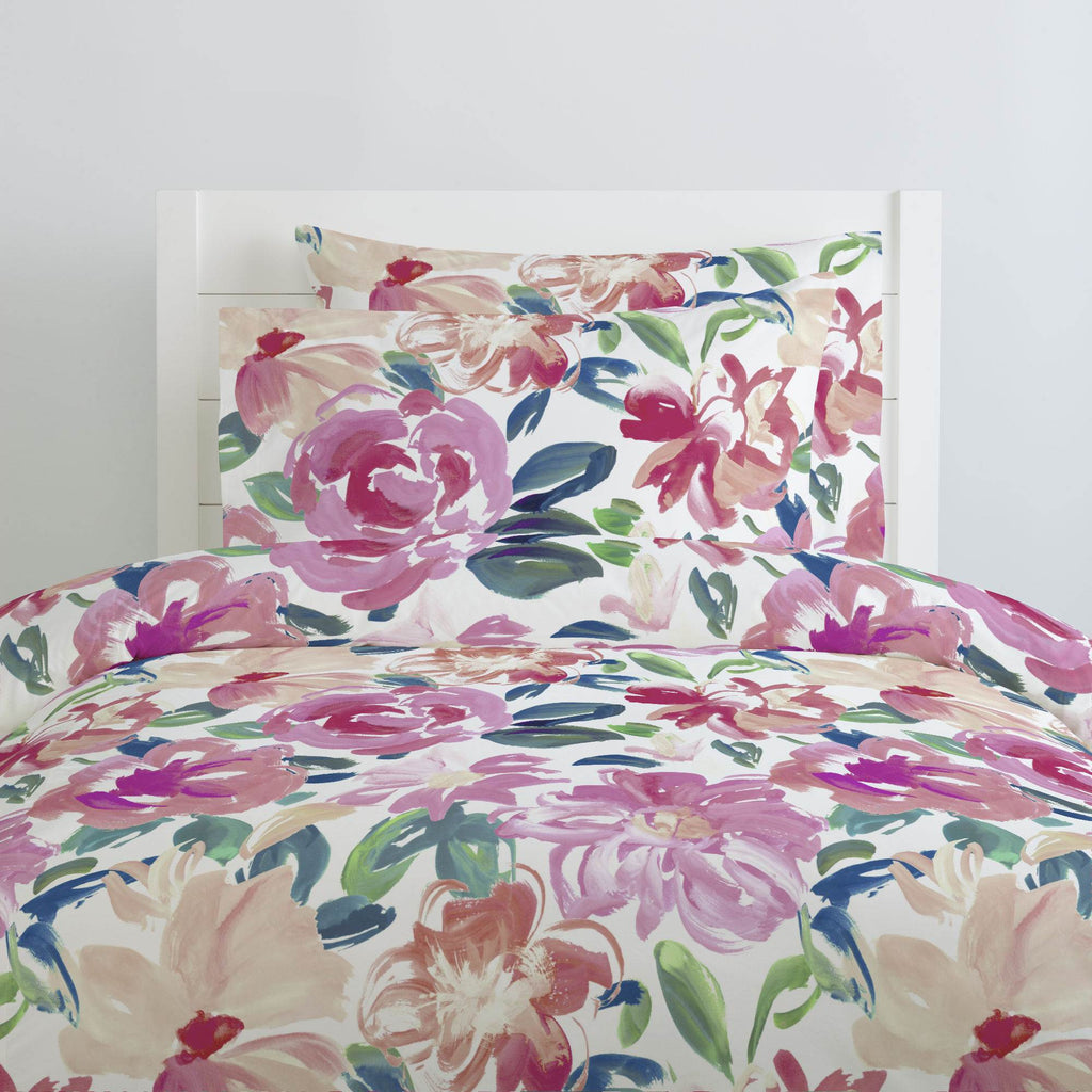 Product image for Pink Brushstroke Floral Duvet Cover