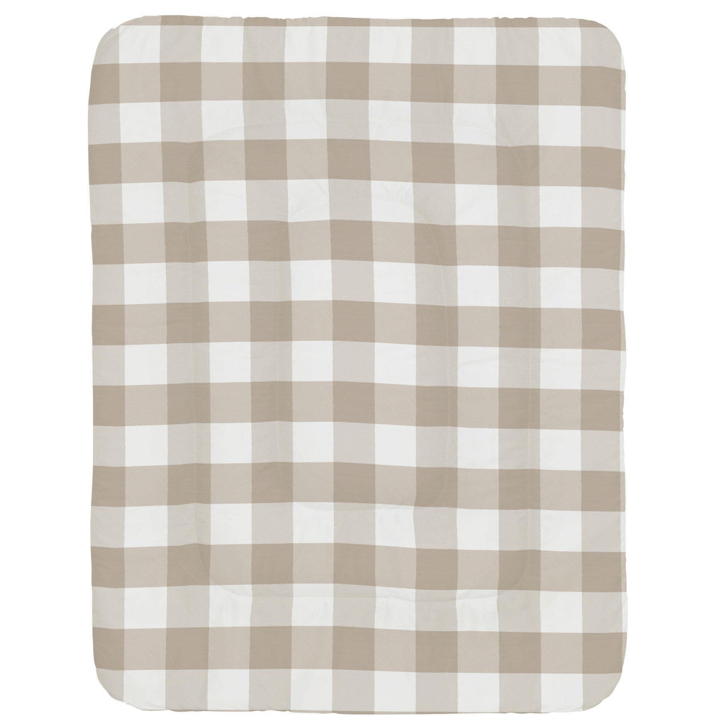 Product image for Taupe and White Buffalo Check Crib Comforter