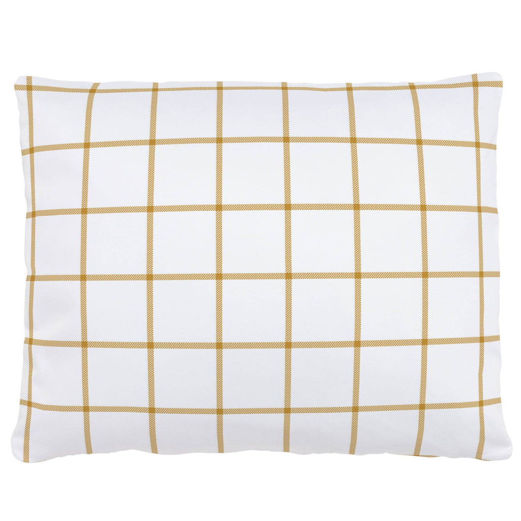 Product image for Mustard Windowpane Accent Pillow