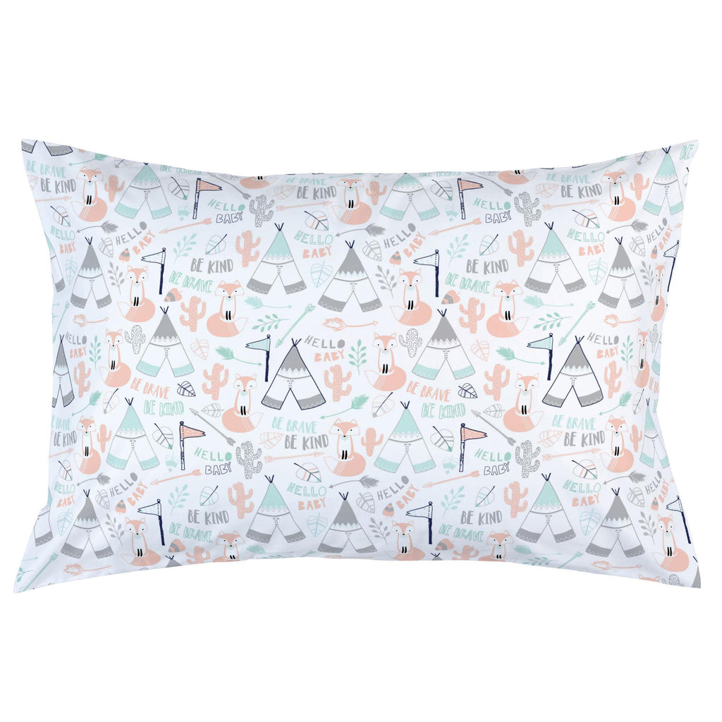 Product image for Peach Brave Fox Pillow Case