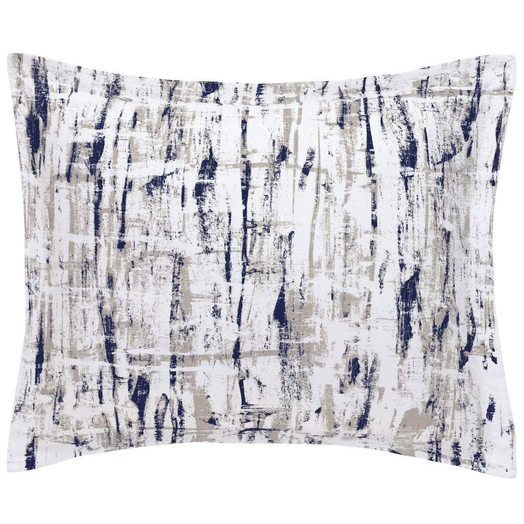 Product image for Navy and Taupe Birch Pillow Sham