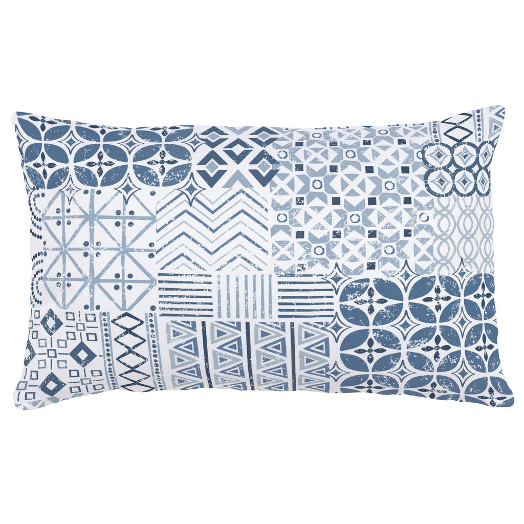 Product image for Denim Patchwork Lumbar Pillow