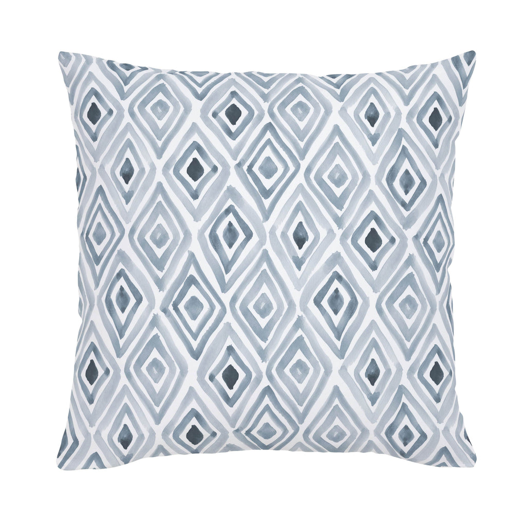Product image for Steel Blue Painted Diamond Throw Pillow
