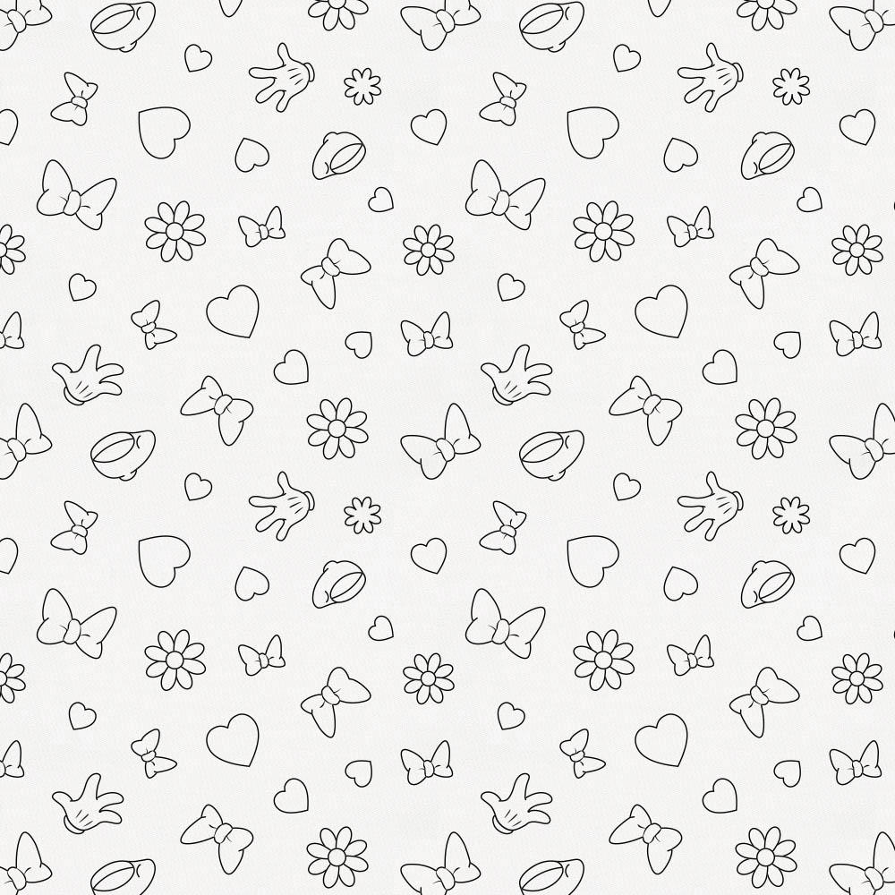 Product image for Disney© Onyx Minnie Icons Fabric