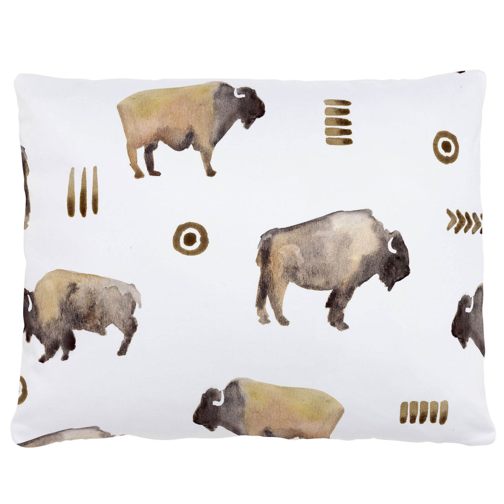 Product image for Watercolor Buffalo Accent Pillow