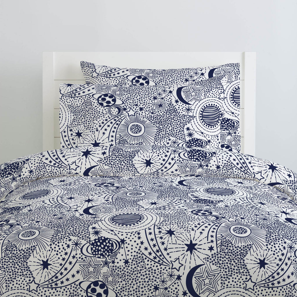 Product image for Navy Galaxy Duvet Cover