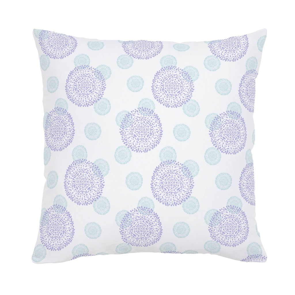 Product image for Lilac and Mist Dandelion Throw Pillow
