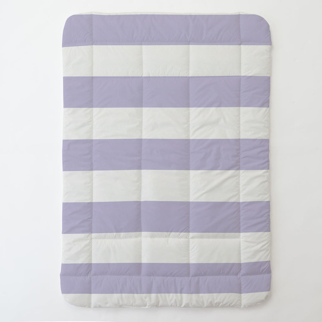 Product image for Lilac Horizontal Stripe Toddler Comforter