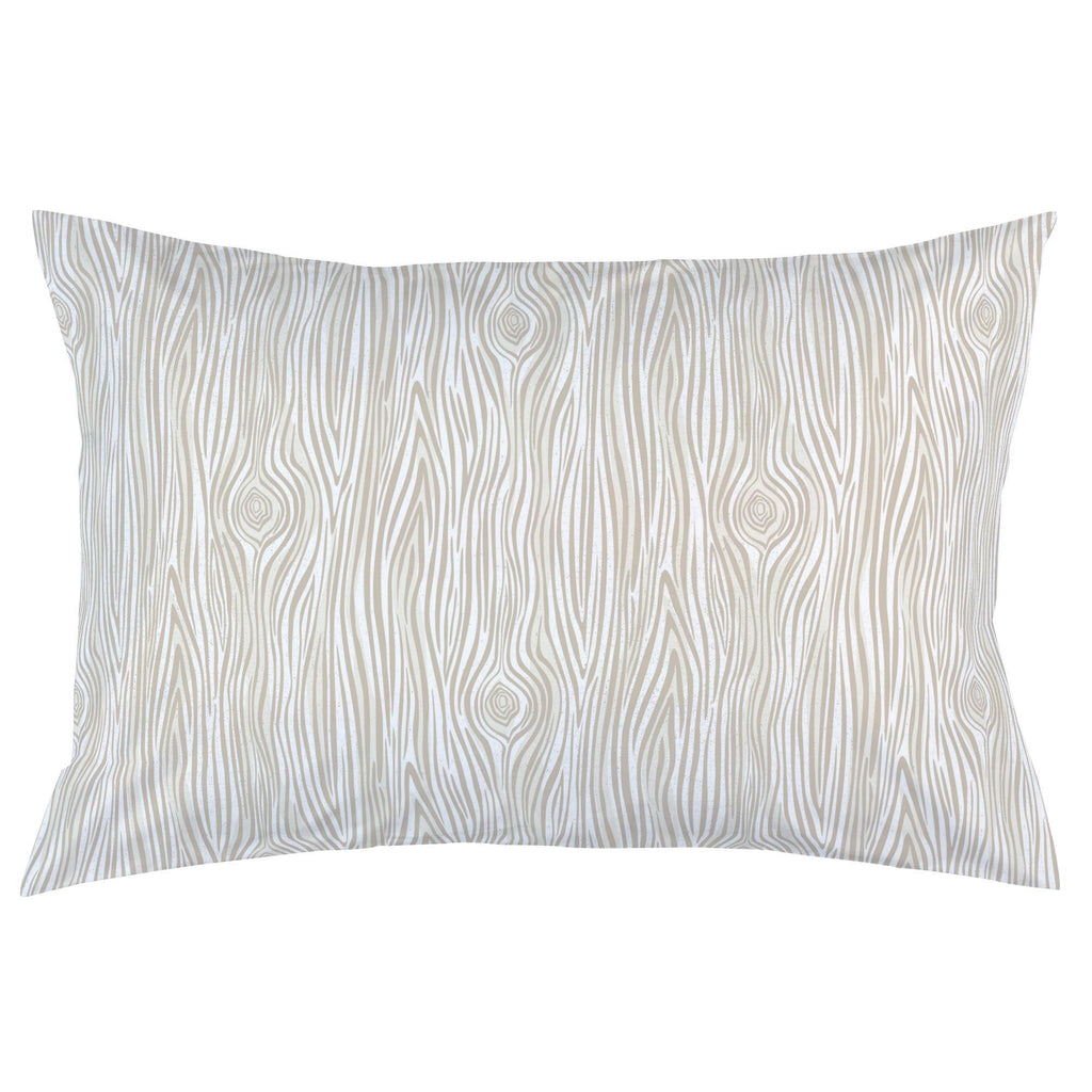 Product image for Taupe Woodgrain Pillow Case