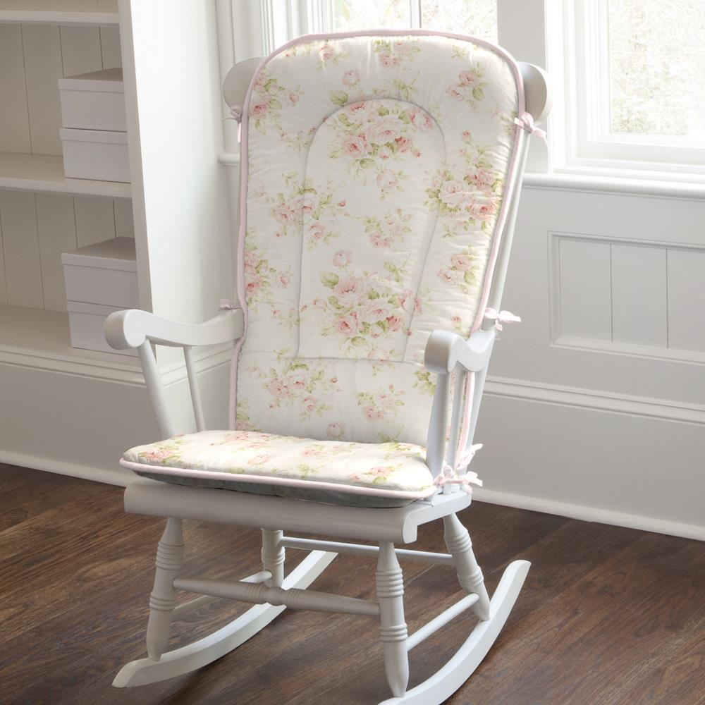 Product image for Pink Floral Rocking Chair Pad