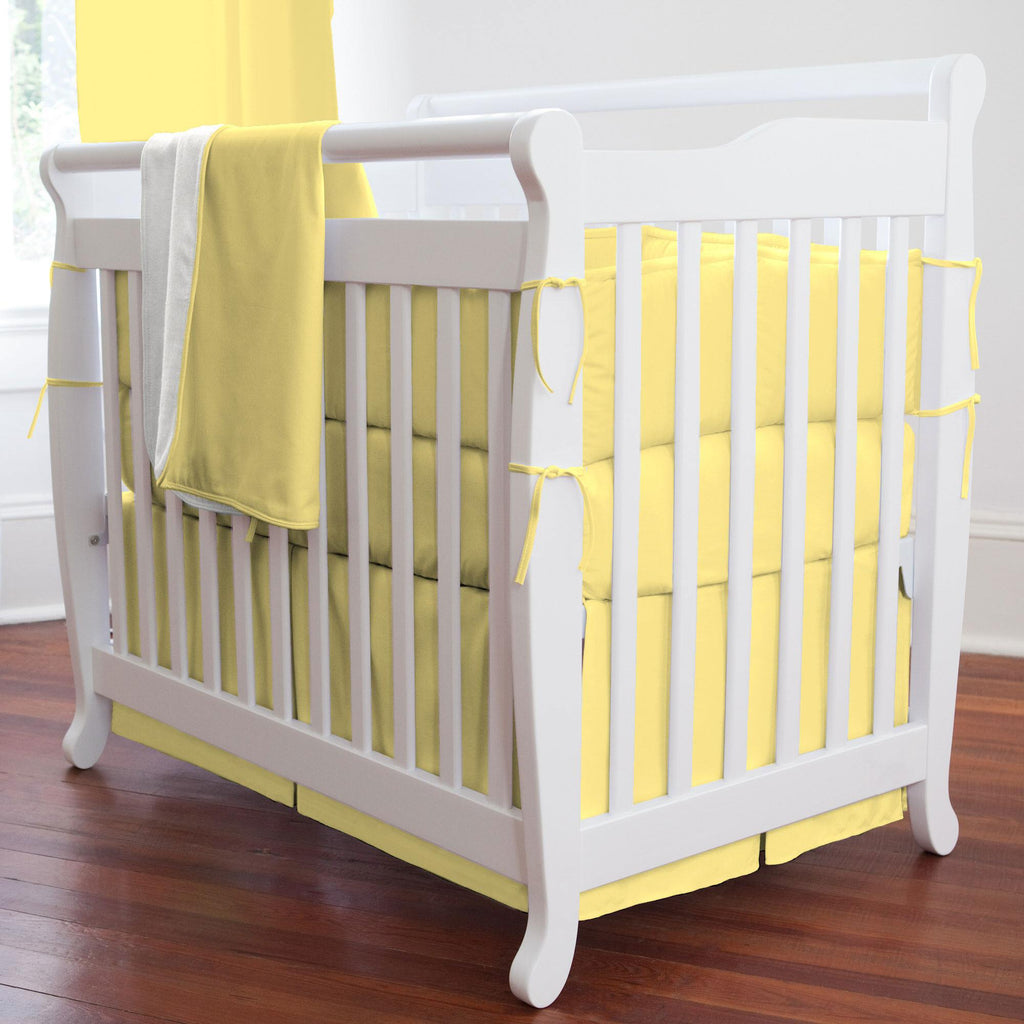 Product image for Solid Banana Mini Crib Bumper