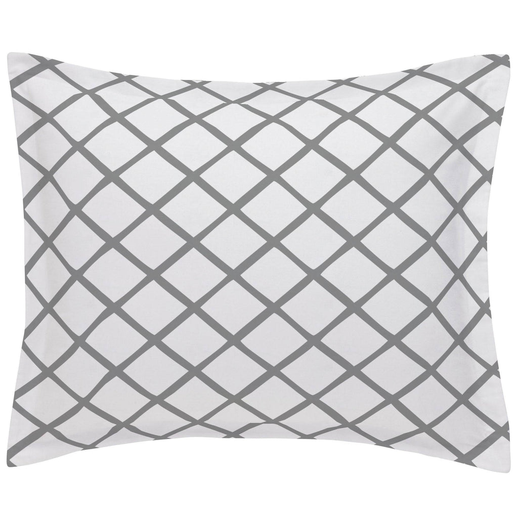 Product image for Cloud Gray Trellis Pillow Sham