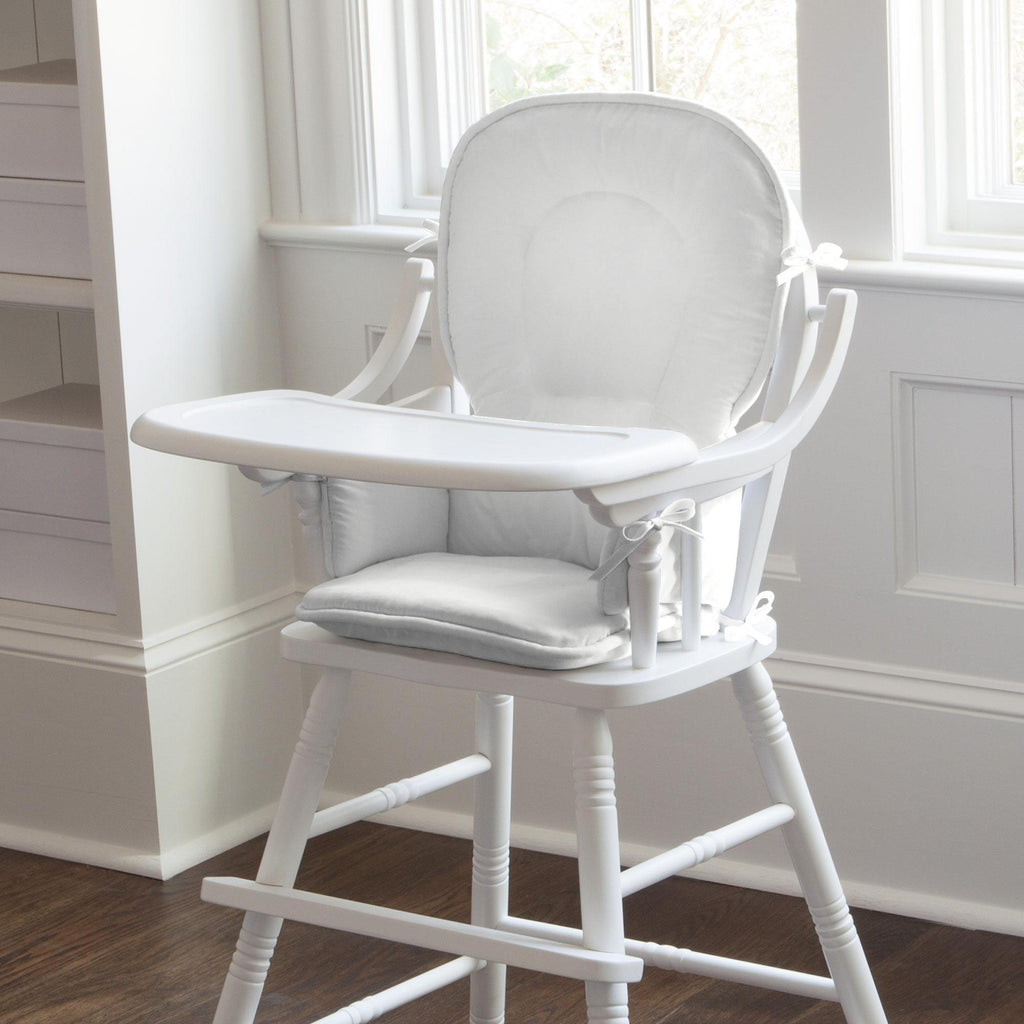 Product image for Solid Antique White High Chair Pad