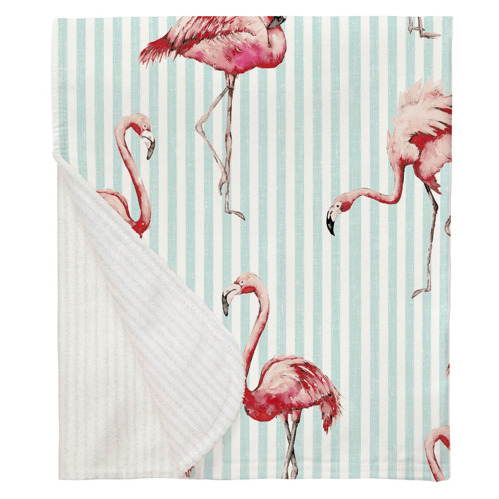 Product image for Flamingo Stripe Baby Blanket