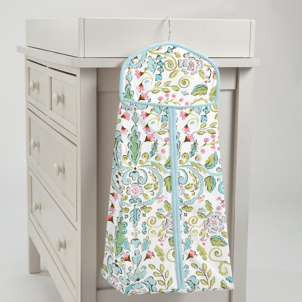 Product image for Love Bird Damask Diaper Stacker