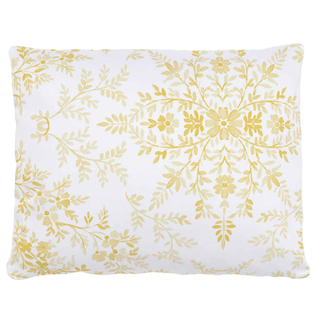 Product image for Yellow Floral Damask Accent Pillow