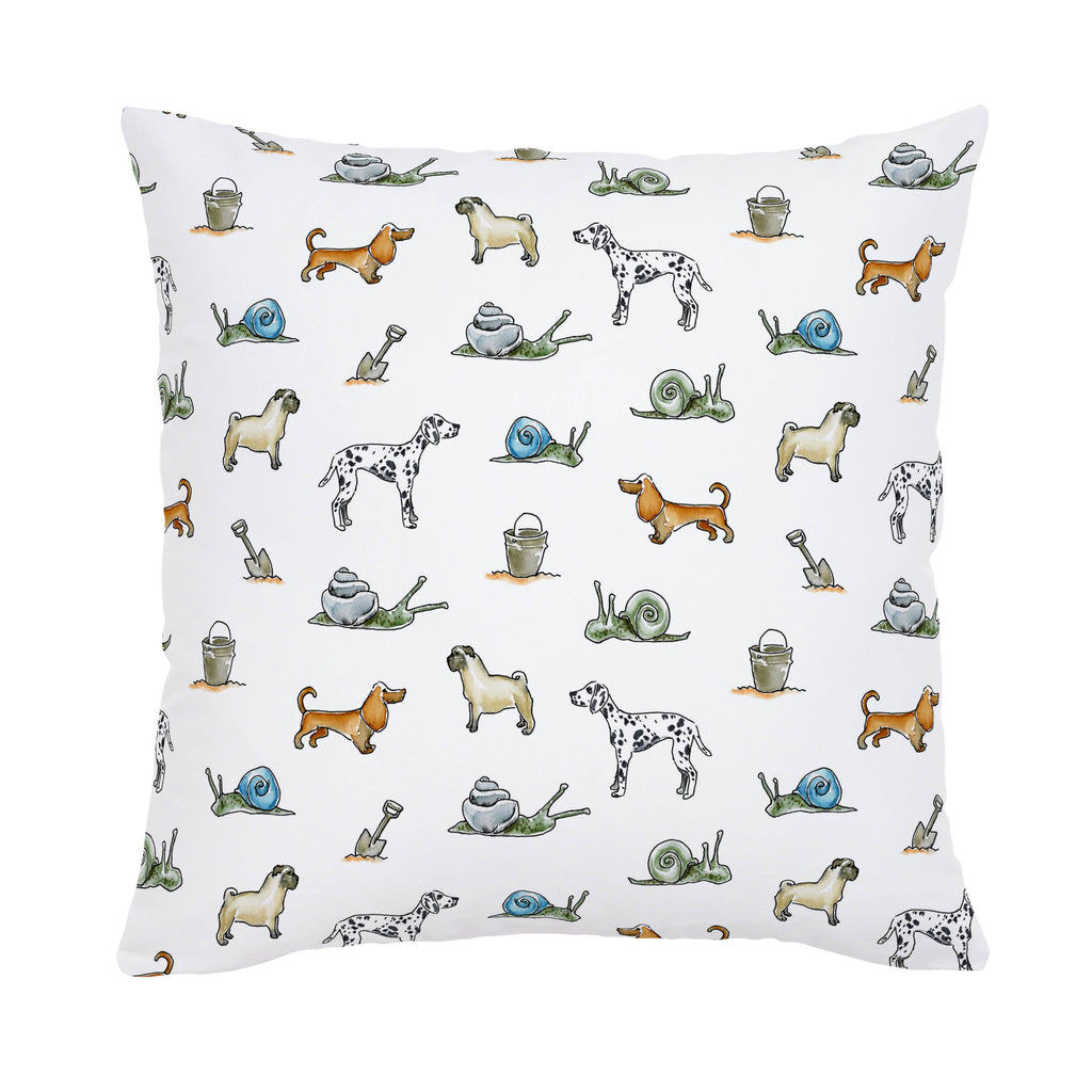 Product image for Snails and Tails Throw Pillow