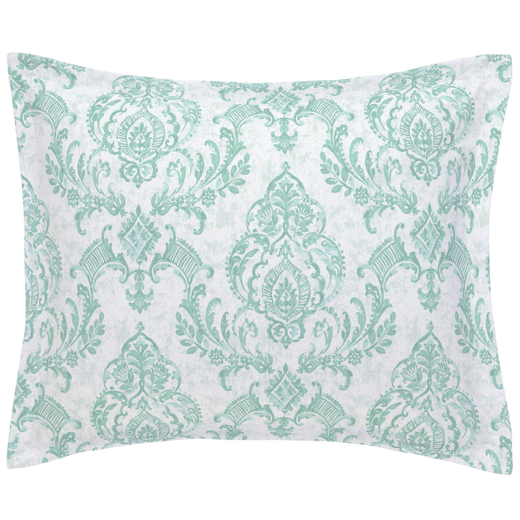 Product image for Mint Painted Damask Pillow Sham