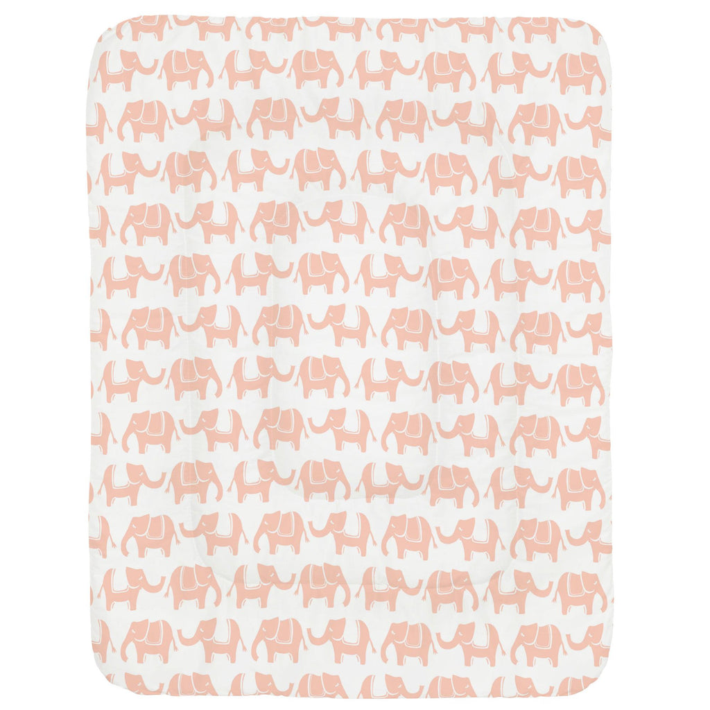 Product image for Peach Marching Elephants Crib Comforter