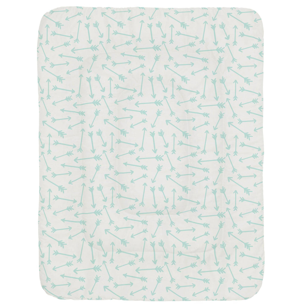 Product image for Icy Mint Whimsical Arrows Crib Comforter
