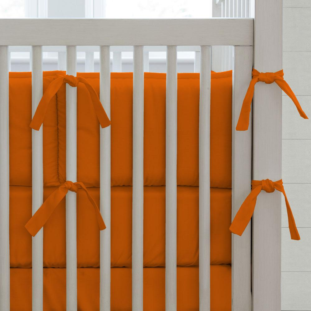 Product image for Solid Orange Crib Bumper