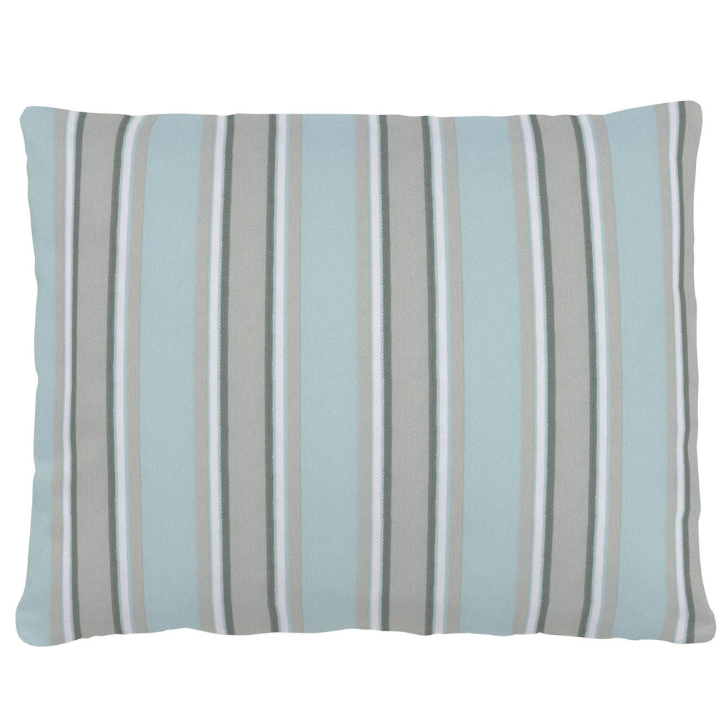 Product image for Mist and Gray Stripe Accent Pillow