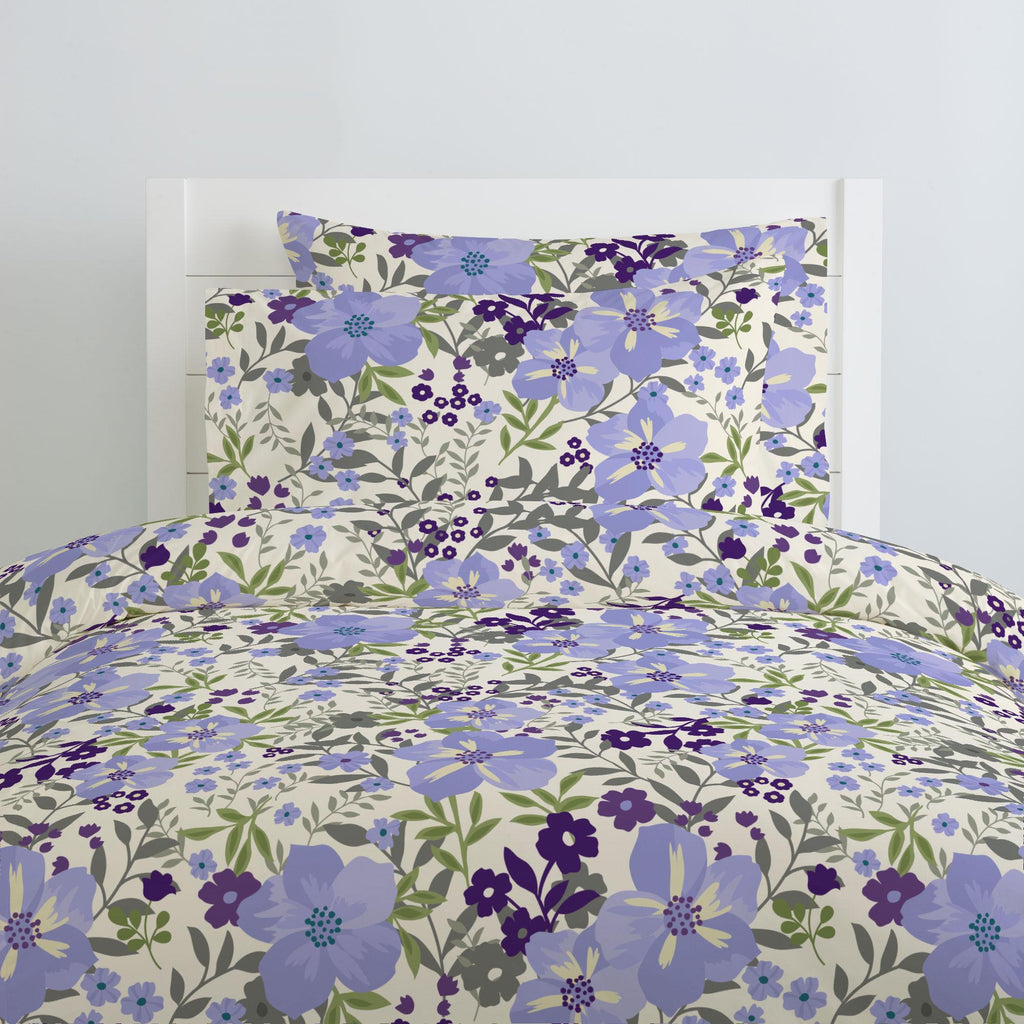 Product image for Lavender Floral Tropic Duvet Cover