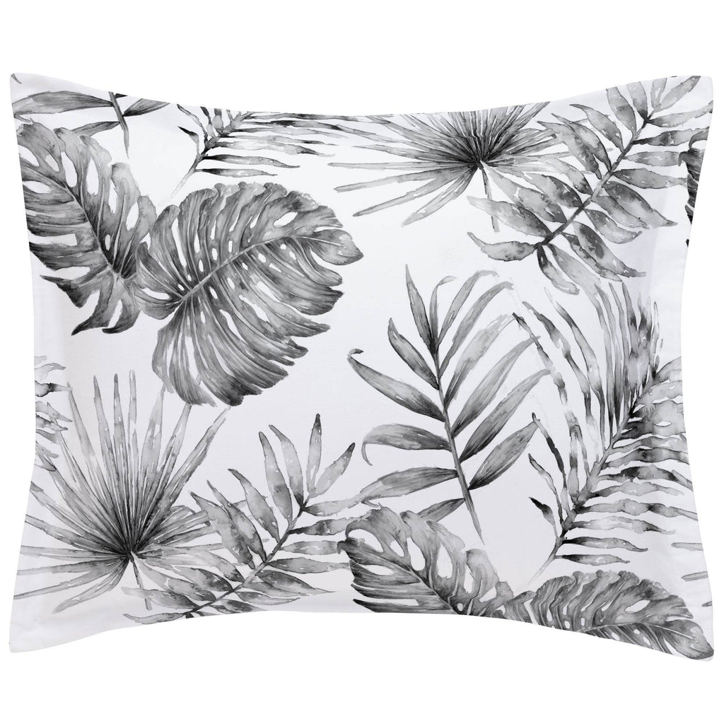 Product image for Gray Painted Tropical Pillow Sham