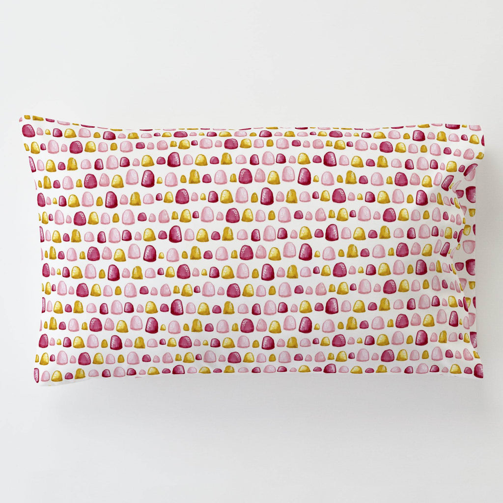 Product image for Painted Gumdrops Toddler Pillow Case with Pillow Insert
