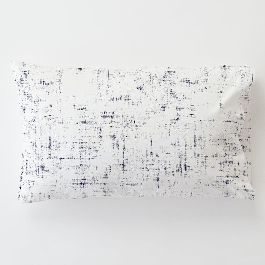 Product image for Navy Distressed Toddler Pillow Case with Pillow Insert