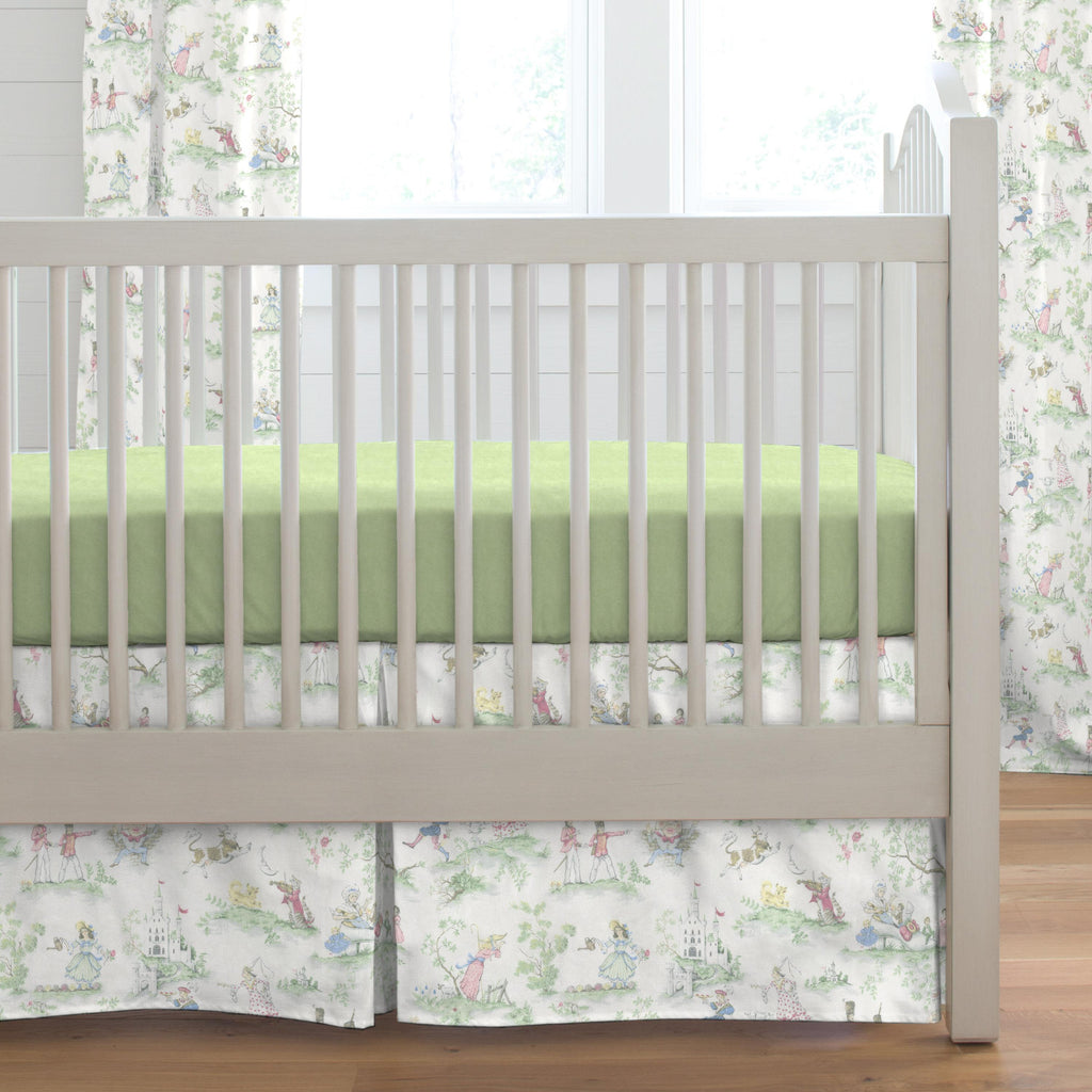 Product image for Nursery Rhyme Toile Crib Skirt