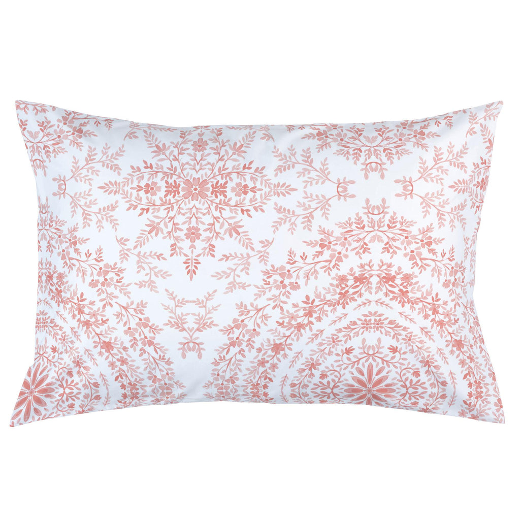 Product image for Light Coral Floral Damask Pillow Case