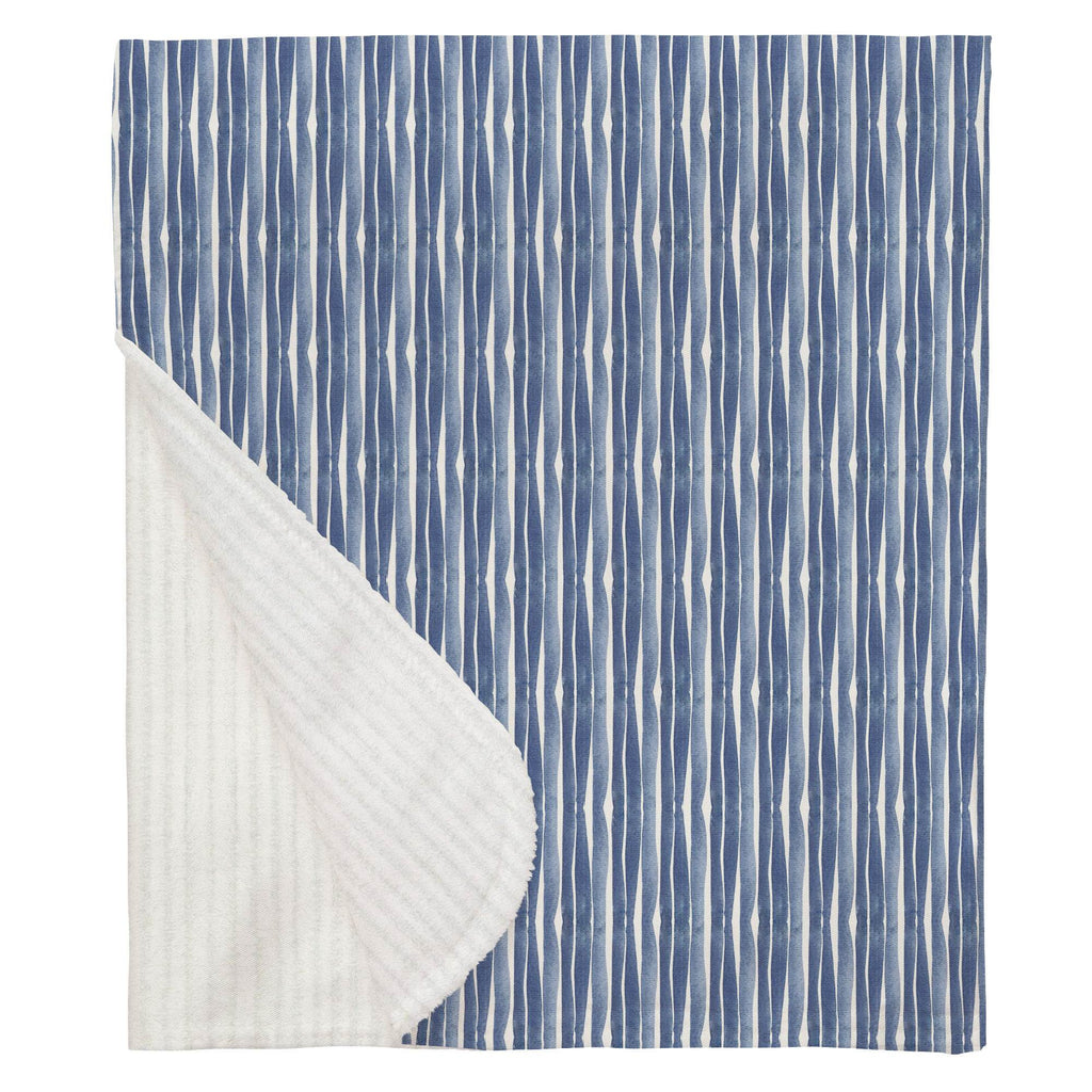 Product image for Blue Ocean Stripe Baby Blanket
