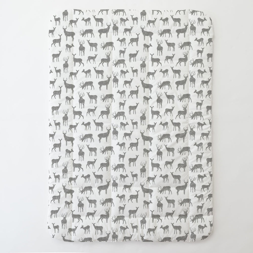 Product image for Cloud Gray Deer Toddler Comforter