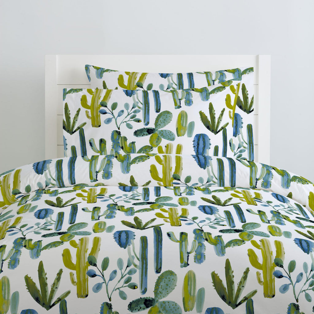 Product image for Blue Painted Cactus Duvet Cover