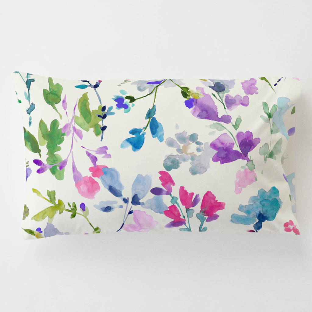 Product image for Bright Wildflower Toddler Pillow Case with Pillow Insert