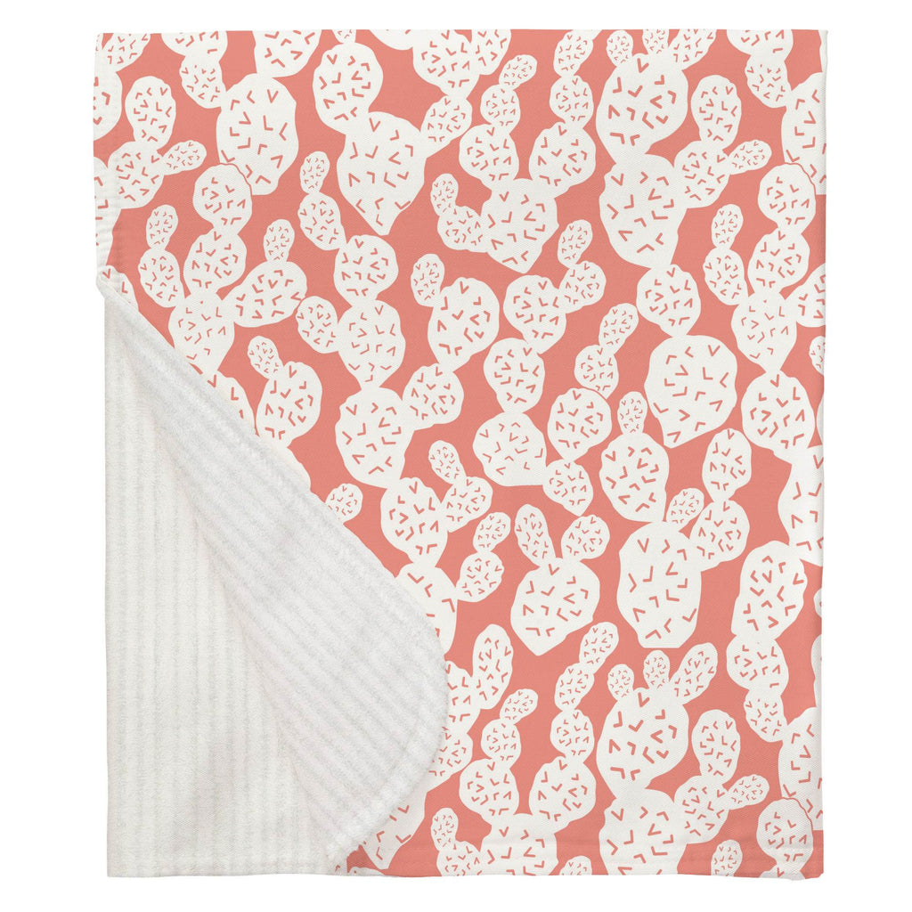 Product image for Light Coral Prickly Pear Baby Blanket