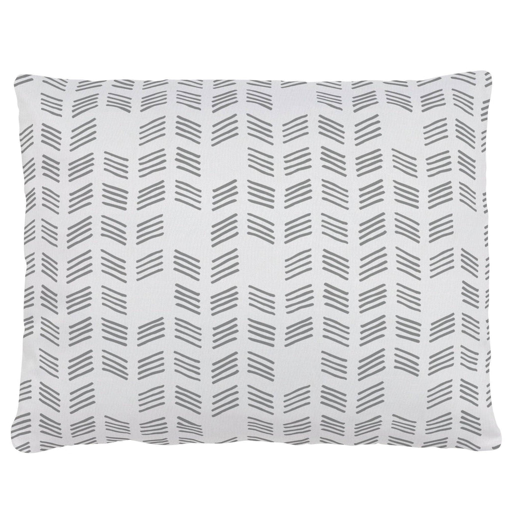 Product image for Silver Gray Tribal Herringbone Accent Pillow