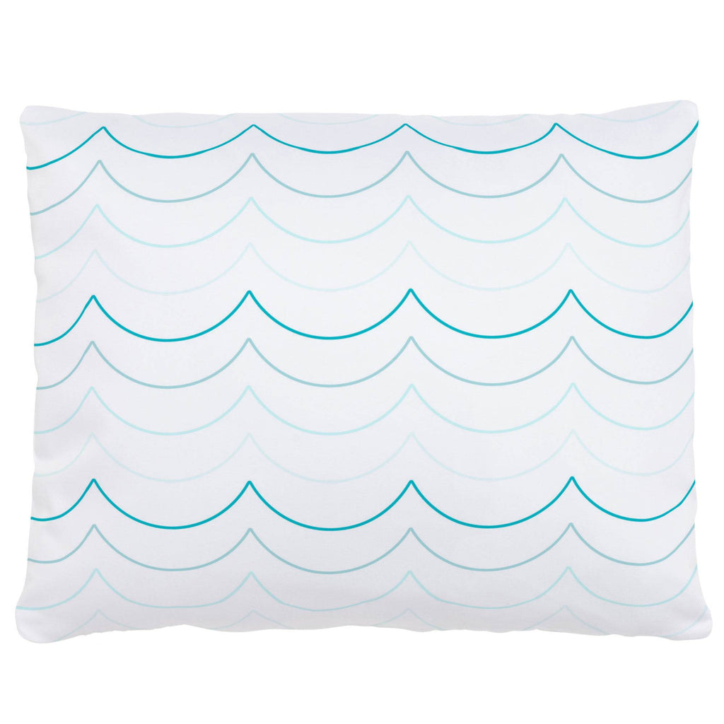 Product image for Teal Wave Stripe Accent Pillow