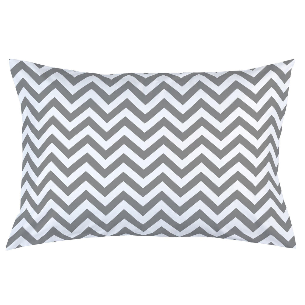 Product image for White and Gray Zig Zag Pillow Case