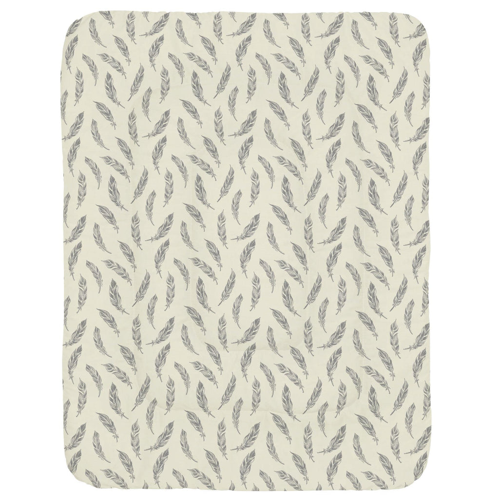 Product image for Natural Gray Feathers Crib Comforter