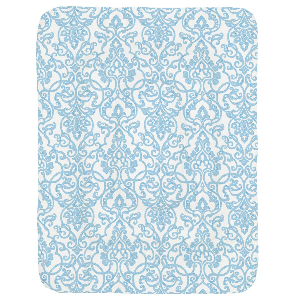 Product image for Blue Filigree Crib Comforter