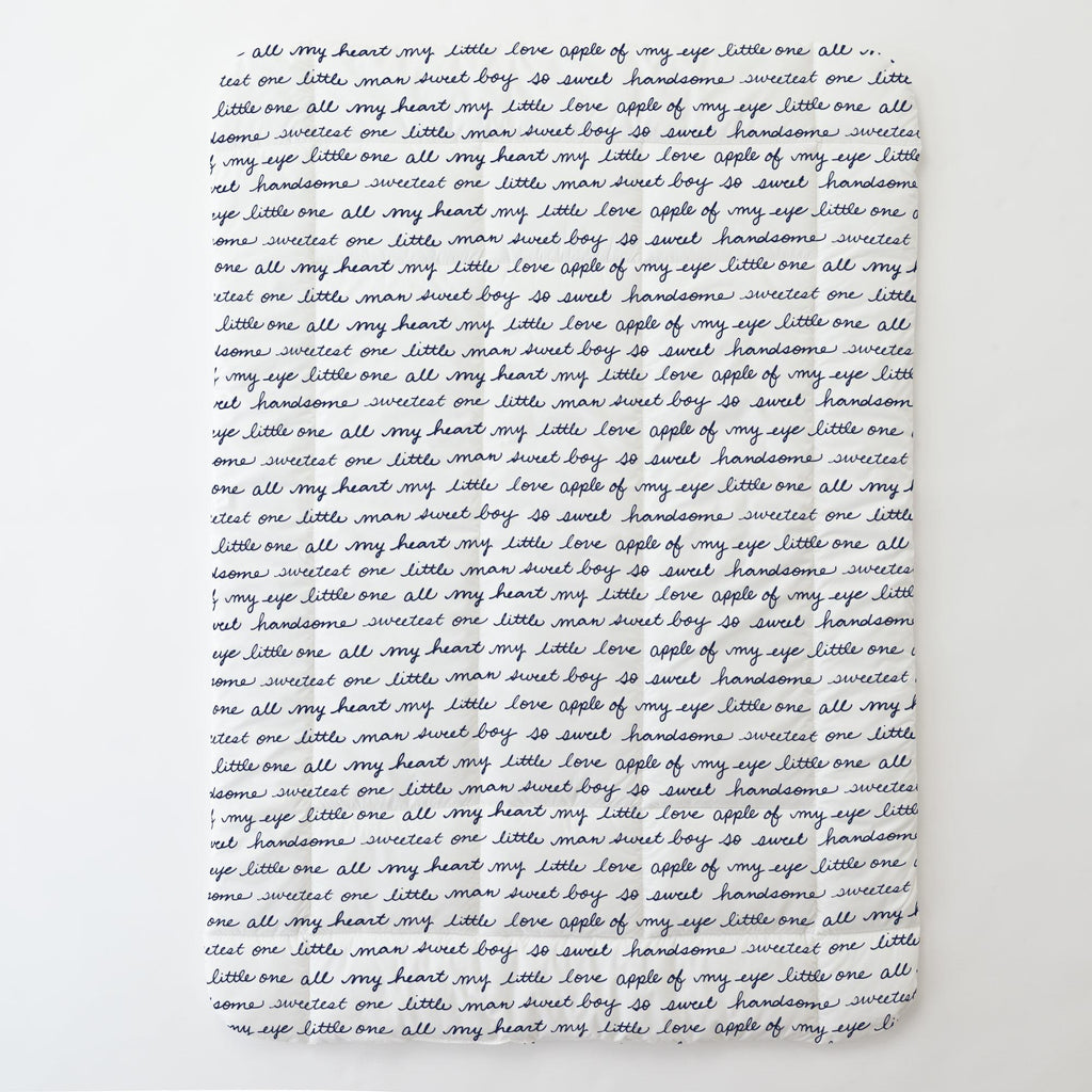 Product image for Navy Sweet Boy Toddler Comforter
