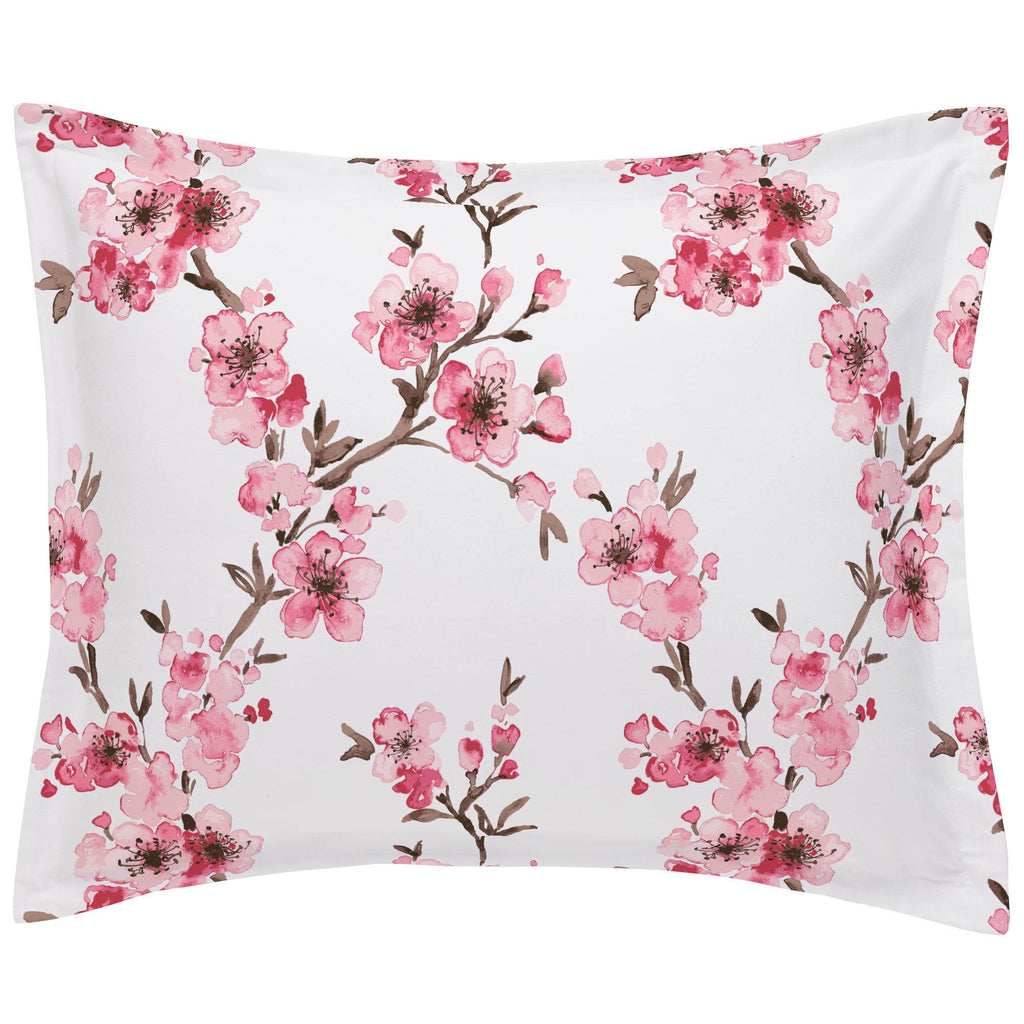 Product image for Pink Cherry Blossom Pillow Sham