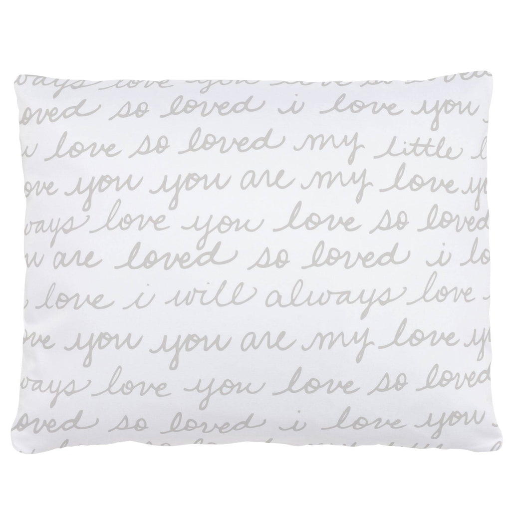 Product image for French Gray Love Words Accent Pillow